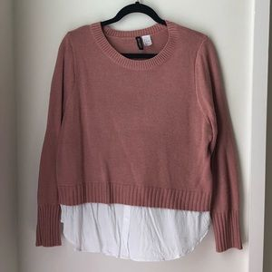 Dusty Rose Sweater Top